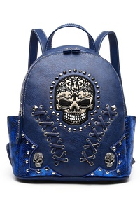 Restocked Skull Stitches And Studs Backpack