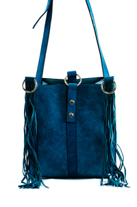 Fringe And Ring Accented Tote And Messenger Bag