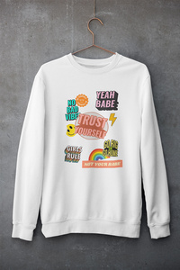 Smile Pat Printed crew neck sweater