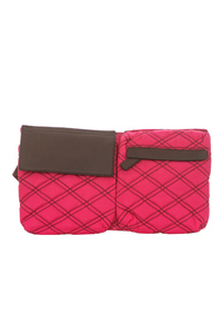 Quilted Front Pockets Waist Pouch