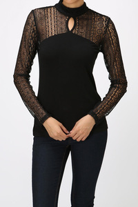 LACEY MOCK NECK MODAL TOP