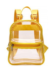 Clear And Trim Colored See Through Backpack