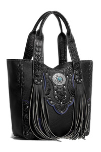 Restocked Western Cowgirl Fringe And Symbol Top Handle Tote Bag