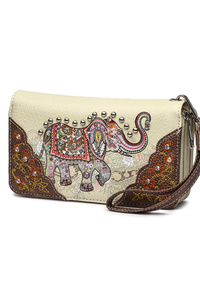 Western Cowgirl Elephant And Studs Wallet