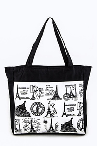 French Postal Stamp Fashion Tote