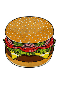Name Hamburger Iconic Light Weight Beach Throw