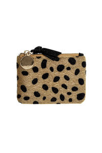 Leopard Synthetic Fur Design Coin Purse With Zipper Pull ETA 3/5/18