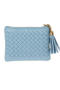 Solid Zipper Closure With Tassel Wallet
