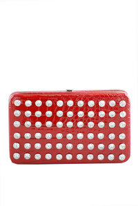 "Rhinestone Deco 1.25"" PVC Wallet Crocodile skin looking Wallet"
