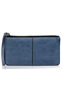 Solid Zipper Closure With Wrist Strap Wallet