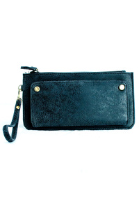 Wallet Style Clutch With Strap And Credit Card Holders