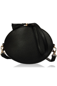 Small Size Oval Messenger Bag With Handle And Shoulder Strap