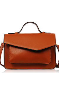 Solid Front Pocket Flap Over Messenger Bag