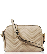Solid Chevron Style Double Compartment Messenger Bag