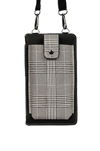 Plaid Phone Case Holder With Credit Card Holder