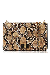 Animal Print Turn Lock Flap Over Messenger Bag
