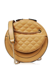 Solid Quilted Flap Over Messenger Bag
