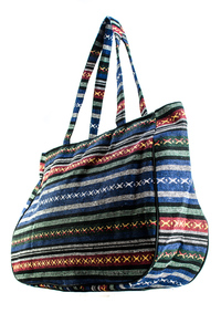Yarn Dye Accented Duffel Bag With Long Handle