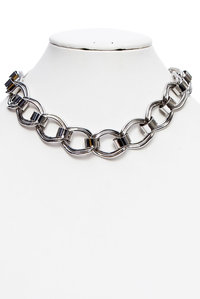Fashion Trendy Thick Metal Short Necklace