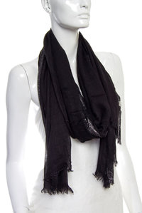 Silver Boarder Solid Viscose Oblong Scarf Pre-Pack 6 pcs Even Color